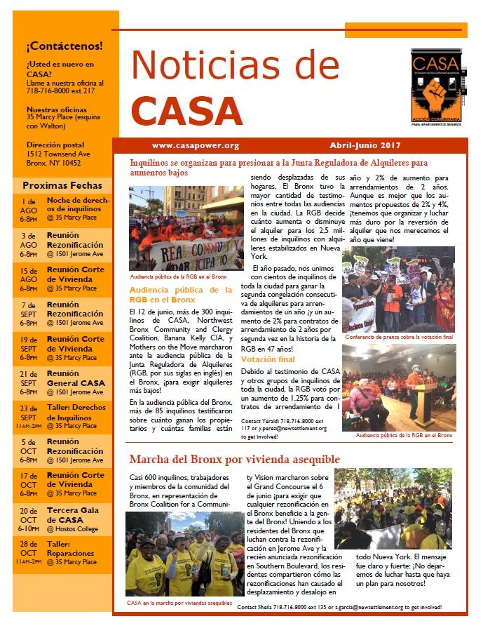 CASA newsletter apr-jun 2017 Spanish