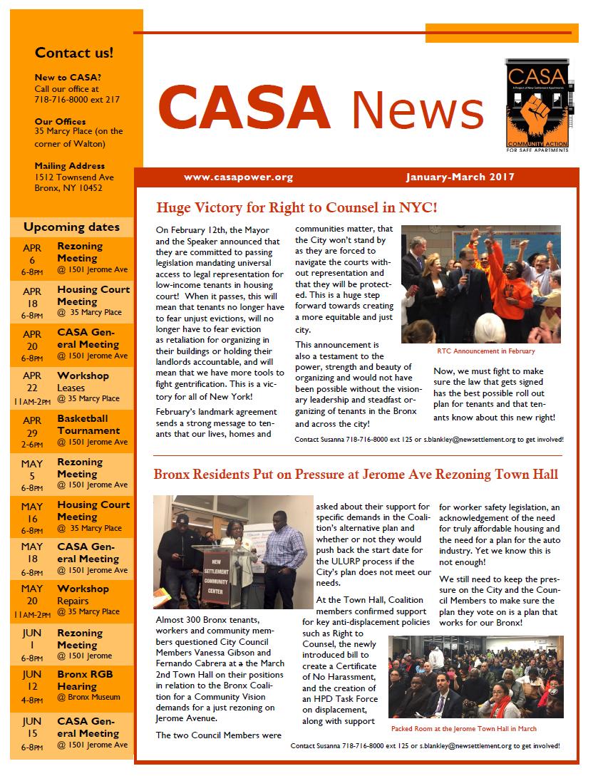 CASA Newsletter Jan-Mar 2017 English FINAL